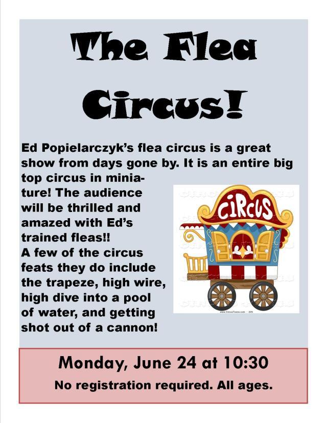 2019 Flea Circus Poster