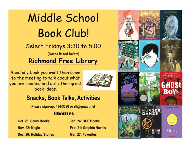 Middle School Book Club Poster 2